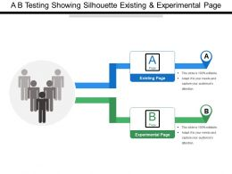 A B Testing Showing Silhouette Existing And Experimental Page