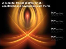 A Beautiful Fractal Abstract Bright Candlelight And Powerpoint Slide Theme