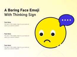 A Boring Face Emoji With Thinking Sign