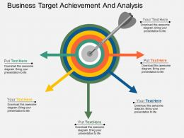 a Business Target Achievement And Analysis Flat Powerpoint Design