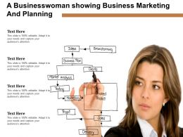 A Businesswoman Showing Business Marketing And Planning