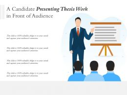 A Candidate Presenting Thesis Work In Front Of Audience