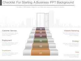 a_checklist_for_starting_a_business_ppt_background_Slide01