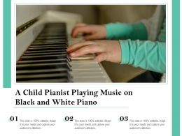 A Child Pianist Playing Music On Black And White Piano