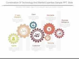A Combination Of Technology And Market Expertise Sample Ppt Slide