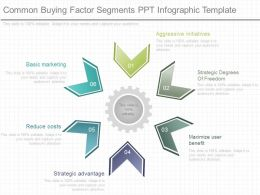 A Common Buying Factor Segments Ppt Infographic Template