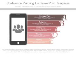 A Conference Planning List Powerpoint Templates