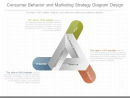A Consumer Behavior And Marketing Strategy Diagram Design