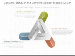 A Consumer Behavior And Marketing Strategy Diagram Design