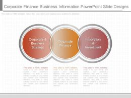 A Corporate Finance Business Information Powerpoint Slide Designs