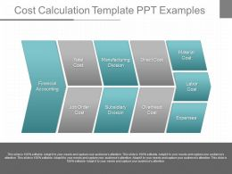 A Cost Calculation Template Ppt Examples