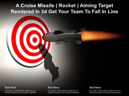 A Cruise Missile Rocket Aiming Target Rendered In 3d Get Your Team To Fall In Line
