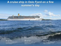A Cruise Ship In Oslo Fjord On A Fine Summers Day