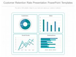 A Customer Retention Rate Presentation Powerpoint Templates