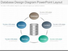 A Database Design Diagram Powerpoint Layout