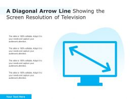 A Diagonal Arrow Line Showing The Screen Resolution Of Television