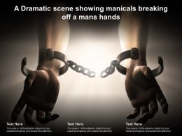 A Dramatic Scene Showing Manicals Breaking Off A Mans Hands