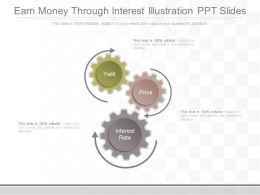A Earn Money Through Interest Illustration Ppt Slides