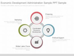 A Economic Development Administration Sample Ppt Sample