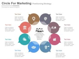 a Eight Staged Circle For Marketing Positioning Strategy Flat Powerpoint Design