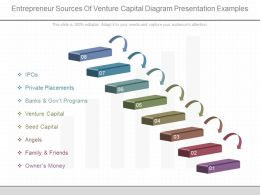 A Entrepreneur Sources Of Venture Capital Diagram Presentation Examples