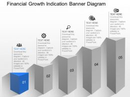 a Financial Growth Indication Banner Diagram Powerpoint Template