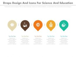 a Five Drops Design And Icons For Science And Education Flat Powerpoint Design