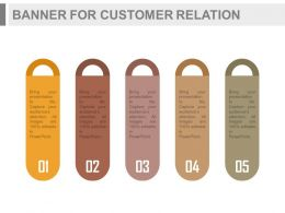 a Five Infographics Banners For Customer Relation Management Flat Powerpoint Design