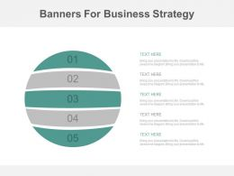 a Five Staged Circle Banners For Business Strategy Flat Powerpoint Design