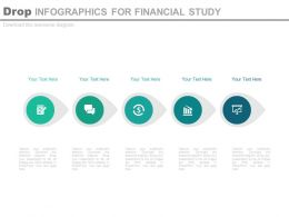 a Five Staged Drop Infographics For Financial Study Flat Powerpoint Design