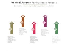 a Five Vertical Arrows For Business Process Flow Indication Flat Powerpoint Design