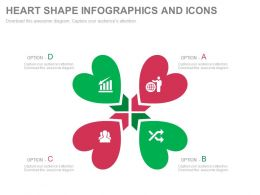 a Four Heart Shape Infographics And Icons Flat Powerpoint Design