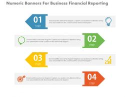 a Four Numeric Banners For Business Financial Reporting Flat Powerpoint Design