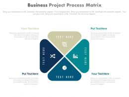 a Four Staged Business Project Process Diagram Flat Powerpoint Design