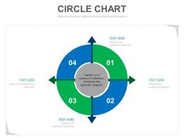 a Four Staged Circle Chart Infographics For Marketing Analysis Flat Powerpoint Design