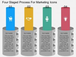 a Four Staged Process For Marketing Icons Flat Powerpoint Design