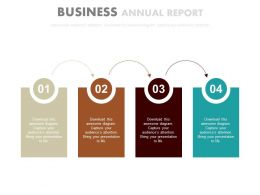 a Four Staged Tags Business Annual Report Flat Powerpoint Design