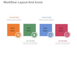 a Four Staged Workflow Layout And Icons Flat Powerpoint Design