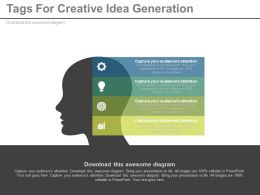 a Four Tags For Creative Idea Generation Flat Powerpoint Design