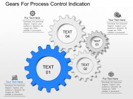 a Gears For Process Control Indication Powerpoint Template