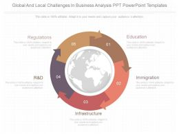 A Global And Local Challenges In Business Analysis Ppt Powerpoint Templates