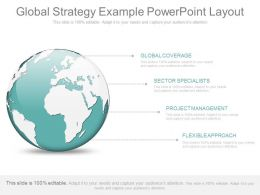 A Global Strategy Example Powerpoint Layout