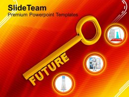 A Gold Key With The Word Future Powerpoint Templates Ppt Themes And Graphics
