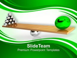 A Green Model Leading His Team Powerpoint Templates Ppt Themes And Graphics 0213
