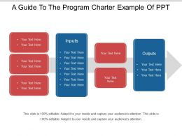 A Guide To The Program Charter Example Of Ppt