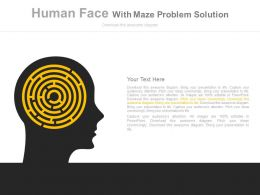 a Human Face With Maze Problem Solution Flat Powerpoint Design