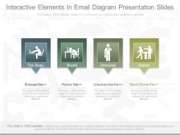 A Interactive Elements In Email Diagram Presentation Slides