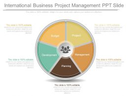 A International Business Project Management Ppt Slide