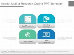 A Internet Market Research Outline Ppt Summary