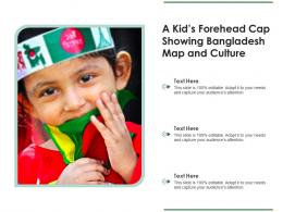 A Kids Forehead Cap Showing Bangladesh Map And Culture